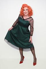 Green delight (Gloria Vulcano) Tags: drag crossdressing transvestite dragqueen redhair diva crossdresser crossdress travestie travestiet reddiva