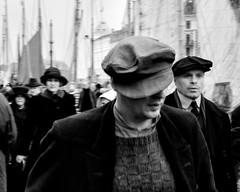 Hats (halifaxlight) Tags: bw men copenhagen movie square denmark nyhavn women sailboats filmset thedanishgirl