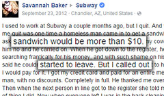 She Quit Her Job At Subway Once Her Manager Shouted THIS To Her (viralberg) Tags: subway heartwarming brav