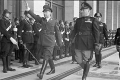 Ante Paveli, leader of the Croatian Ustae, salutes while walking with Mussolini in Italy officially regocnised Croatia's Independence. 1941. [600x403] #HistoryPorn #history #retro http://ift.tt/1q1R121 (Histolines) Tags: italy history walking with retro timeline leader while independence 1941 croatian mussolini ante salutes officially croatias vinatage ustae historyporn paveli histolines regocnised 600x403 httpifttt1q1r121