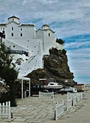 Fortress and church / Tvrava i crkva (mardukkk) Tags: sea outdoors island greek nikon greece more nikond3200 egean d3200 grka nikoneurope nikonsrbija nikonserbia grki