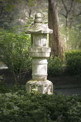 Oriental Garden (hilarymcurrie) Tags: park lighting morning trees sunshine stone forest garden dark asian effects spring solitude prayer carving zen meditation oriental
