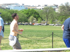 IMG_0662 (FOTOSinDC) Tags: shirtless man hot men back candid running sweaty sweat shorts jogging runner jogger