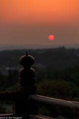 (skycat1962) Tags: sunset japan canon landscape eos nara  todaiji  nigatsudo ef70200mm  5dmarkiii