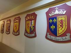 A series of royal crests (jimsawthat) Tags: uk rural scotland unitedkingdom interior palace crest historic perth sconepalace