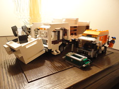 Lego Garbage Truck Comparison (TheRegent89) Tags: scale trash truck garbage lego front legos refuse loader 134