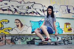 arcticside (kLaraBj) Tags: portrait selfportrait me girl myself chica retrato yo skatepark skate selfie