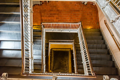 Stair well 6297.jpg (rayclark1) Tags: usa newyork building stairs us newjersey jerseycity place unitedstates nj structure ellisisland