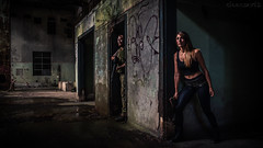 Urbex survivors 4k screensaver - DSC5903 A7II (cleansurf2 Sub Account (Rick Switzer)) Tags: wallpaper portrait people urban color colour abandoned girl soldier costume photographer screensaver cosplay widescreen character sony australian gritty warehouse axe warrior grime underworld cinematography costuming performer ultra weapons graffeti 4k urbex ilce a7ii ilce7m2