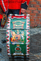 Royal Welsh fusiliers In Bargoed (Steve Purnell Photography) Tags: army freedom march drum band rifles parade celebration soldiers guns marchingband firearms bassdrum batallion rwf royalwelshfusiliers bayonets