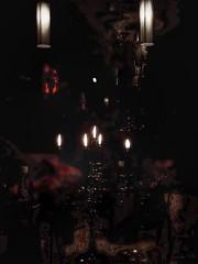 Nimmer wei das Licht zu schtzen, wer das Dunkel stets vermied. (mabumarion) Tags: light candles mood darkness spirit atmosphere tone