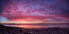Wellington Point Panorama (RoosterMan64) Tags: longexposure sky panorama seascape reflection clouds sunrise landscape australia brisbane panoramic wellingtonpoint leefilters