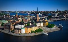 Stockholm Riddarholmen (redfurwolf) Tags: city bridge building church water skyline architecture island europe ship stockholm sthlm cityview riddarholmen sal2470za