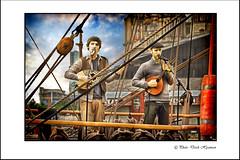 MUSIC ON THE KASKELOT (Derek Hyamson) Tags: liverpool candids hdr shantys salthousedock