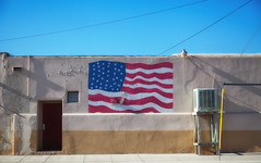 4th (Maureen Bond) Tags: flag painted desert roadtrip notsowelcomingfeeling getoutfast keepmoving hot ca mojave maureenbond