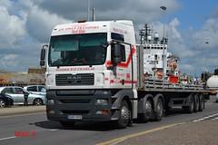 MAN TGA 'J.D. Owen Transport' reg EU57 KYO (erfmike51) Tags: lorry artic flatbedtrailer mantga jdowentransport