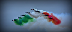 Frecce Tricolori (Explored) (Steve.T.) Tags: italy team italian nikon colours smoke airshow colourful freccetricolori fairford riat coordination airdisplay colouredsmoke raffairford sigma70300 d7200 riat16