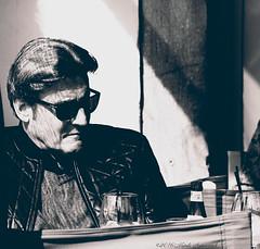 Portrait (Natali Antonovich) Tags: brussels portrait monochrome sunglasses glasses cafe belgium belgique belgie lifestyle tradition relaxation terras reverie sweetbrussels