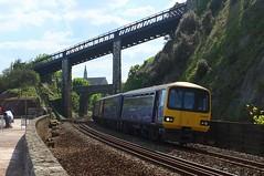 Coming Out Of Teignmouth (crashcalloway) Tags: trains devon railways firstgreatwestern pacer teignmouth gwr dawlish dmu greatwesternrailway fgw southwestengland class143 skewbridge 143619