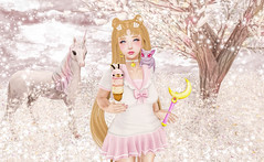 Moon Child (Gaby Marshdevil ~ BUSY IRL) Tags: cute cosplay sl secondlife icecream kawaii nani sailormoon gami altair tsg gacha halfdeer darkendstare