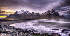Tonemapped from Stokksnes (Nick L) Tags: seascape ice clouds canon landscape eos iceland 5d canon5d icelandic tonemapped tonemapping tonemap vestrahorn southerniceland stokksnes southeasticeland vesturhorn 1635lii brunnhorn canon1635lii 5d3 canon5d3 canon5dmark3