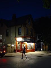 walk (Ian Muttoo) Tags: street toronto ontario canada night store gimp motionblur bluehour variety grocery ufraw nobregas dsc59421edit nobregasvarietyandgrocery