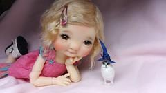 Hello ! (Pathy's Dolls) Tags: miniatures dolls patti meadow owl bjd hibou yosd pathy