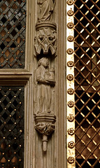 Cappenberg, Westfalen, Stiftskirche, reliquary cupboard, detail (groenling) Tags: tower church saint stone germany de deutschland kirche stonecarving carving nrw turm stein tabernacle westfalen stiftskirche heilige nordrhein cappenberg ottoofcappenberg reliquarycupboard sakramentsundrequienschrank