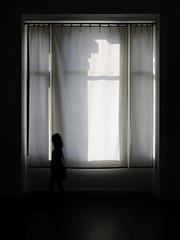 (cherco) Tags: light shadow black luz window silhouette composition canon ventana movement alone shadows curtain columns sombra movimiento lonely silueta solitary solitario backlighting composicion columnas