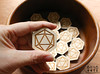 6by6Arts_d20magnets5 (thea superstarr) Tags: dungeonsanddragons icosahedron dnd d20 madeinusa lasercut laserengraved 6by6arts