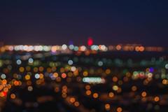 Red Dot City (NVOXVII) Tags: city art night landscape nikon bokeh dusk streetlights adobe portsmouth spinnakertower ambient chill lightroom d3200
