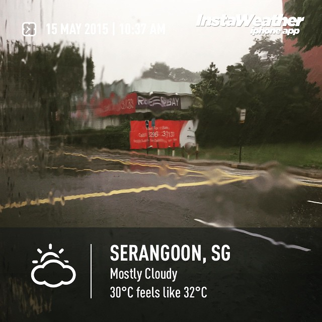 #heavyrain #rain  #weather #wx #serangoon #serangoon #day #singapore