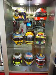 Formula 1 helmets!