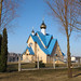 "Blue church in Ogre • <a style=""font-size:0.8em;"" href=""http://www.flickr.com/photos/127988158@N04/17605668593/"" target=""_blank"">View on Flickr</a>"