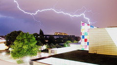 Light'storm on MAM (Pmp On the Rocks) Tags: storm strasbourg lightstream lightstorm