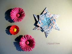 Modular Origami Star (UR Fleurogami) Tags: star origami modular stern quadrat 6pointstar modularorigamistar paperbymariasinayskaya
