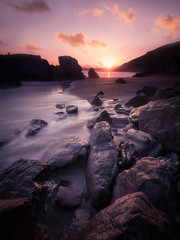 Time Management (Timothy Gilbert) Tags: longexposure sunset beach rocks cornwall wideangle panasonic boulders whitsandbay ultrawide freathy 10stop gx7 olympus918mmf4056