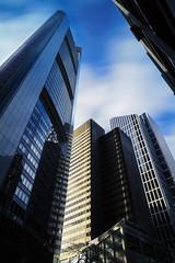 Chasing Clouds in Metropolis (Kevin Chileong Lee) Tags: de deutschland cityscape hessen frankfurt fenster wolken architektur spiegelung frankfurtammain innenstadt metropole langzeitbelichtung schlieren hochhuser