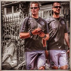 Gay Footballers (FotoFling Scotland) Tags: street muscles shorts gaypride bulging footballers gancanaria instagram