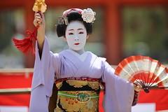 Kimono (Teruhide Tomori) Tags: portrait festival japan lady dance kyoto stage performance event maiko   kimono tradition japon       heianjingushrine