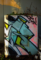 DTR Crew (Steve Taylor (Photography)) Tags: city pink blue newzealand christchurch white streetart black art graffiti garbage mural canterbury pot nz rubbish southisland cbd lime ikarus dtrcrew