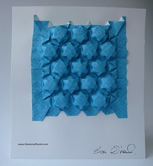 DSC01540 (thesesmallhands) Tags: sculpture art paperart origami handmade homemade tessellation paperfolding