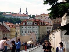Prague Streetview (jann.haemers) Tags: old city houses summer people architecture outside europe prague outdoor july praha czechrepublic praag straatbeeld 2014 tsjechië