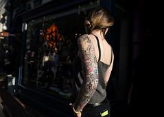 Alex (Blinkofanaye) Tags: street woman tattoo washingtondc candid jeans