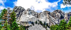 Mount Rushmore National Memorial in the Black Hills of South Dakota 001 (from left; Presidents Washington, Jefferson, T. Roosevelt, & Lincoln) (zwzzjim) Tags: trees sky mountain architecture outdoor president hill rushmore mountainside mountainpeak