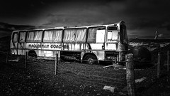 Abandoned coach (Kathryns Photography) Tags: abandoned coach iloveblackandwhite isleofharris outerhebredes westernisles discovery alone mysterious old wreckages mobilephotography samsunggalaxys6edge maclennancoaches