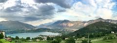 Lago di Caldonazzo (ianesellicaterina) Tags: nuvole cielo panoramica trentino tenna caldonazzo lagodicaldonazzo calceranica panarotta domenicasera pizzodilevico iphone6splus