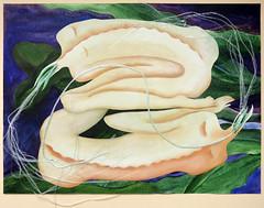 The original painting of Pastel drawing of women and the Queen of the Night (Night-blooming Cereus) (elizabatz.jensen) Tags: flower painting dancers queenofthenight cereus orchidcactus nightblooming