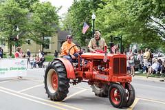 Allis Chalmers Tractor in Memorial Day Parade, 2015 (marylea) Tags: community michigan parade dexter memorialday allischalmers 2015 may25 memorialdayparade washtenawcounty
