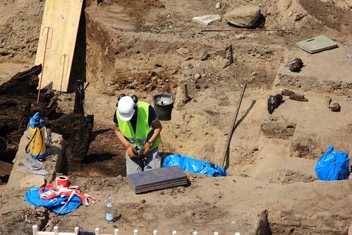 Ausgrabung auf der Baustelle Schloßstraße (58)